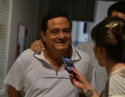 """El """"Brujo"""" Jiménez, haciendo declaraciones muy suelto de cuerpo, antes de quedar detenido."""