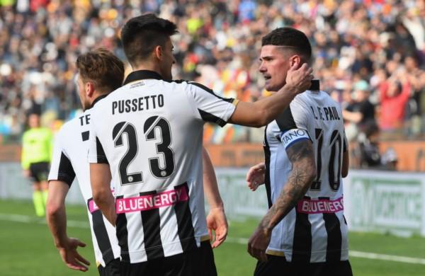 Partido con goles argentinos: con tantos de Rodrigo De Paul e Ignacio Pussetto, Udinese derrotó 2-1 a Bologna, donde marcó Rodrigo Palacio.
