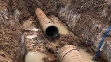 Una nueva rotura afecta al acueducto de Comodoro Rivadavia (foto archivo)