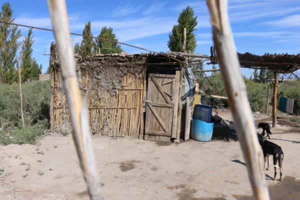 La precaria vivienda donde la nena de 11 años fue violada y embarazada por su padrastro.