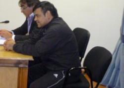 Juan Fernando Ojeda en una foto de archivo, cuando fue condenado por homicidio en Chubut.