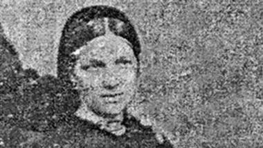 Gwenllian Thomas, esposa de Abraham Matthews, llegó en el Mimosa.