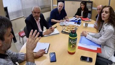 La reunión que se llevó a cabo ayer entre las autoridades del ENRE y el Ministerio de Infraestructura.