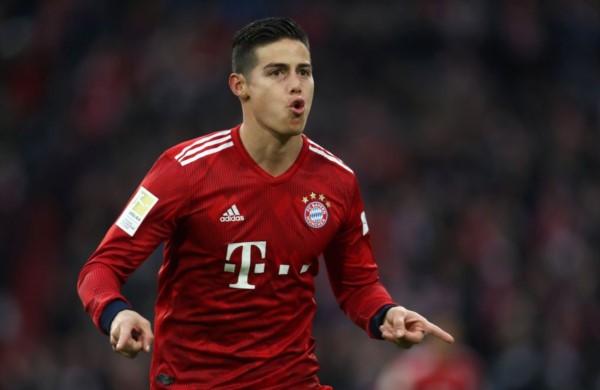 James marcó el 3-0 parcial del Bayern Munich ante Wolfsburgo y alcanzó los 4 tantos en lo que va de esta Bundesliga.