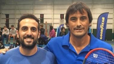 Bruno Stretti y Fernando Nogueira, los finalistas de la Categoría 1ra caballeros. Campeón y subcampeón.