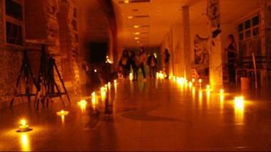 El viernes hubo un encendido de velas en el edificio del ISFDA 805.