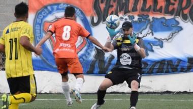Bordaberry, de emboquillada, anotó el 2-1 parcial ante Unión Deportiva Catriel el pasado sábado.
