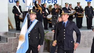 Uniformes. La ceremonia inaugural para los aspirantes a ingresar a la fuerza provincial este año.