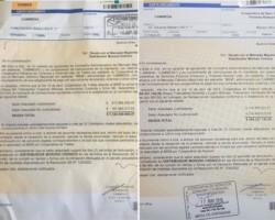 Las cartas documento que le llegaron desde Cammesa a las cooperativas de Trelew y Rawson.