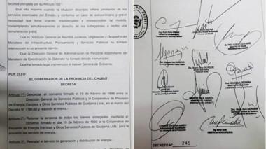 El decreto del Ejecutivo para el traspaso de los trabajadores.
