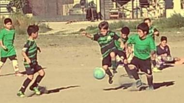 El buen clima acompañó la actividad del fútbol infantil.