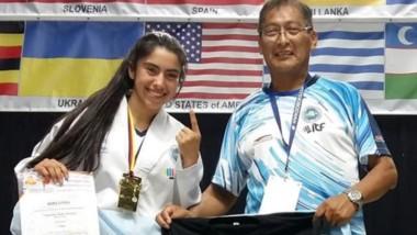 La comodorense Micaela Caamaño se consagró campeona Mundial.