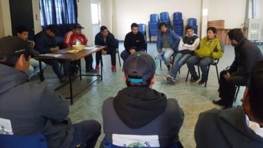 Discusión. En el local del Soeme se reunieron con Matías Taccetta, que admitió el incremento al juez.
