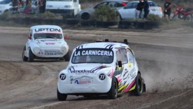Damián Lourero en escena, corriendo en la categoría 850cc. Fue excluido en la primera serie de la categoría.