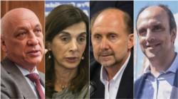Los candidatos Antonio Bonfatti (el gobernador socialista), María Eugenia Bielsa, Omar Perotti y José Corral.