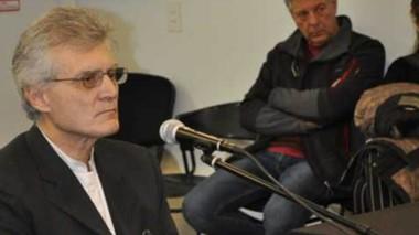 Oscar Giovanelli en la última ronda de testimonios en el debate oral.