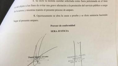 El recurso que elevó la Cooperativa para ejercer la defensa jurídica.