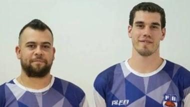 Los entrenadores federativos Emiliano Barbosa y Agustín Giovanoli.