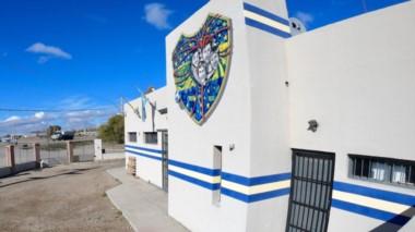 """Así luce el mural que se presentará el próximo sábado en la sede de la """"Peña del Xentenario Boquense del Valle del Chubut"""", en la ciudad de Trelew."""