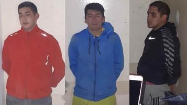 Béjar, González y Zabala fueron detenidos a pocos metros del lugar del asalto en pleno barrio Alberdi.