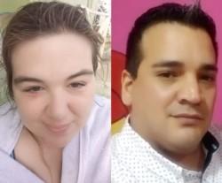 Víctima y victimario. Lorena Piedra y Samuel Alcalá.