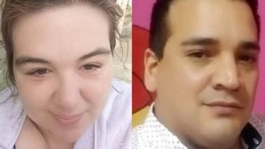 Víctima y victimario. La Población de la ciudad de Sarmiento conoció ayer el asesinato de la joven mujer.