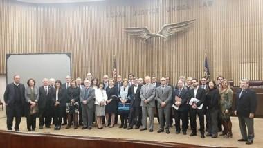 El Ministro del Superior Tribunal de Justicia de la provincia del chubut, Miguel Ángel Donnet, participó junto a juristas de distintos países.