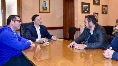 Adrián Maderna y Alejandro Vargas, junto a dirigentes de Patoruzú, se reunieron el pasado lunes.