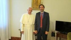 Imagen de archivo del ao 2016, cuando el Sumo Pontífice recibió el Roma al juez federal Sebastián Casanello.