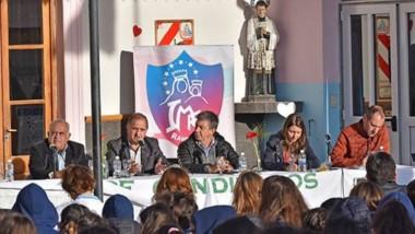 De izquierda a derecha. Carlos Wohn, Carlos Linares, Gustavo Menna, Gloria Sáez y Maximiliano Masquijo.