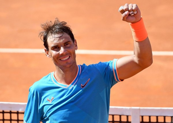 Nadal se metió en su final N°11 en Roma tras derrotar a Tsitsipas por 6-3 y 6-4.