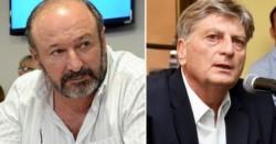 El radical Raúl Kroneberger (de barba) y el sucesor del proyecto Verna, Ziliotto