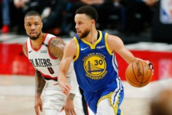 Con Stephen Curry (36 puntos) como figura otra vez, Golden State Warriors vuelven a vencer a Portland Trail Blazers.