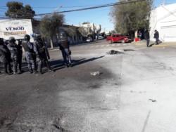 Infantería desalojó el sector (foto Tu Lugar FM)