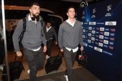 penas ingresó River al hotel en Curitiba, Conmebol tomó un grupo de jugadores para realizar un control antidoping.