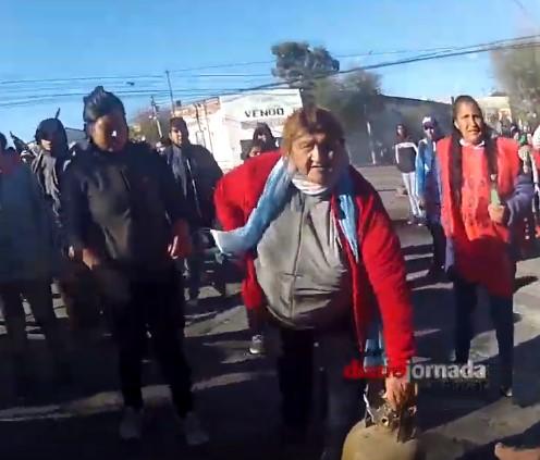 El video de la GoPro del jefe de la Policía del Chubut con los incidentes en Rawson