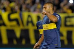 """""""Wanchope"""" Ábila hizo fútbol y sería convocado para la vuelta entre Boca y Argentinos."""