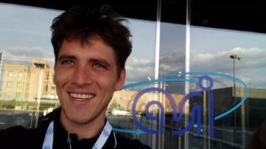 Jorge Guillermo O'Connor cumple a diario con su pasantía en la Agenzia Spaziale Italiana