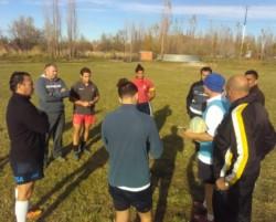 En las instalaciones de Trelew RC, se realizó el curso para árbitros.