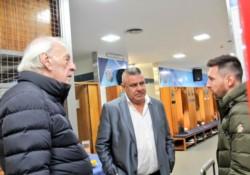 Por primera vez, Menotti y Messi se ven cara a cara.