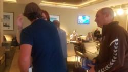 Saludo inesperado: Cristina Kirchner y Horacio Rodríguez Larreta coincidieron en Aeroparque.