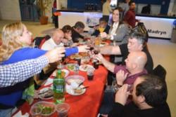 Multitud. La cena de Luz y Fuerza no tuvo ausentes en Puerto Madryn.