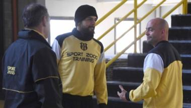 """Pablo Lencina es uno de los estandartes de Deportivo Madryn. """"Trataremos de conseguir un buen resultado el domingo"""", indicó el arquero."""