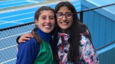 Valentina De Bella y Laura Pinilla, atletas capitalinas.