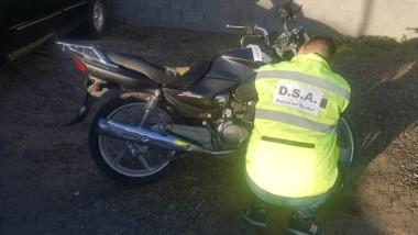 La moto fue incautada en poder de un sospechoso en aquella ciudad.