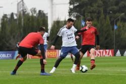 La Selección Argentina sigue con la preparación para la Copa América y este sábado enfrentó a Newell's en un amistoso informal