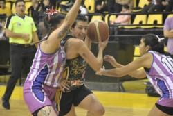 Madryn fue superior a Racing en el encuentro que abrió la serie final de básquet femenino de la ABECh. (Foto: Gentileza Daniel Bruno)