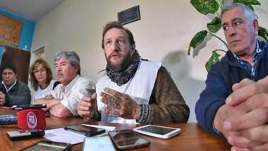 Reclamo. La conferencia de la Mesa de Unidad Sindical donde se hicieron los principales planteos.