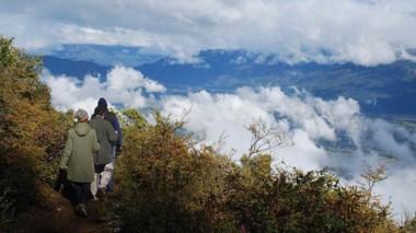 Alternativa. Caminata por las nubes, en el cerro Piltriquitron, cerca de El Bolsón.