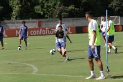 Último entrenamiento de la selección en Salvador de Bahia. Por la tarde, viajaron a Belo Horizonte.